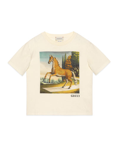 Kid's Horse Graphic Short-Sleeve T-Shirt  Size 4-12