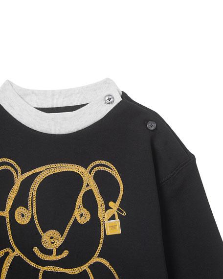 Girl's Chain Bear Fleece Sweatshirt Dress, Size 6M-2