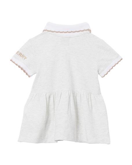 Girl's Scanlon 3D Crochet Bear Polo Dress w/ Matching Bloomers, Size 3-18 Months