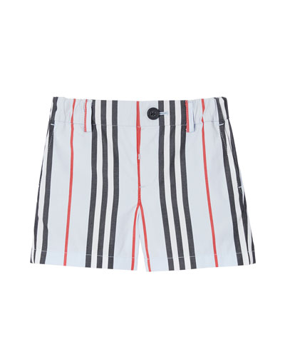 Boy's Nicki Icon Stripe Shorts  Size 6M-2