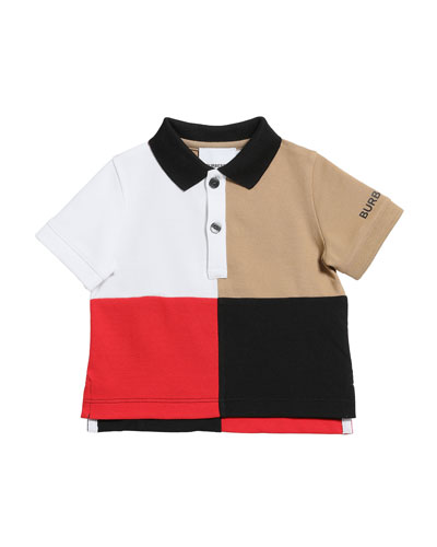 Boy's Mini Monty Colorblock Short-Sleeve Polo Shirt  Size 6M-2
