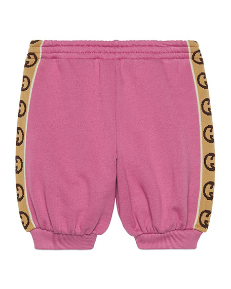 Image 1 of 1: Girl's Jogging Pants w/ GG Jacquard Side-Trim, Size 9-36 Months