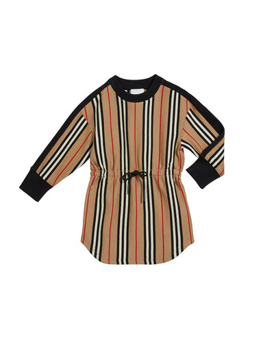 Girl's Arielle Icon Stripe Tie Waist Dress  Size 3-14
