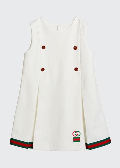 Girl's Sleeveless Knit Dress w/ Grosgrain Band  Size 12-36 Months