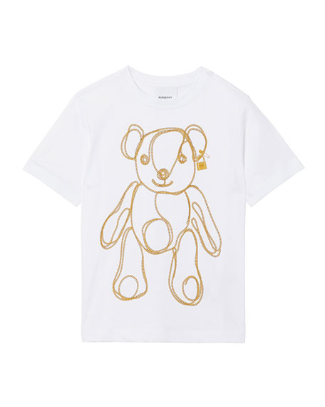Image 1 of 1: Girl's Chain Bear Short-Sleeve Tee, Size 3-14