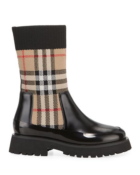 Mini Doug Check Sock Boot, Toddler/Kids
