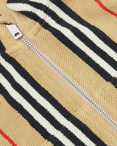 Boy's Lance Icon Stripe Terry Cloth Zip Jacket, Size 6M-2