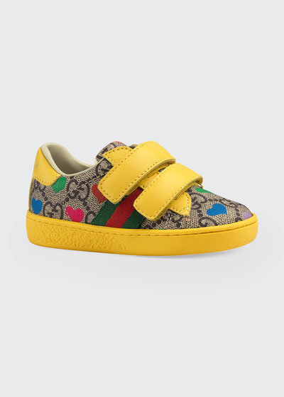 New Ace GG Supreme Hearts-Print Sneakers  Baby/Toddler