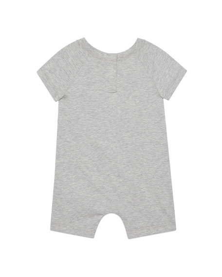Heathered Cotton Logo Shortall, Size 0-24 Months