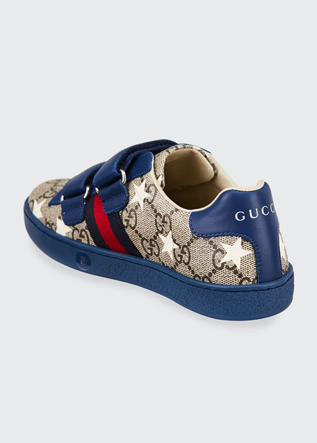 New Ace GG Supreme Stars-Print Sneakers, Toddler/Kid
