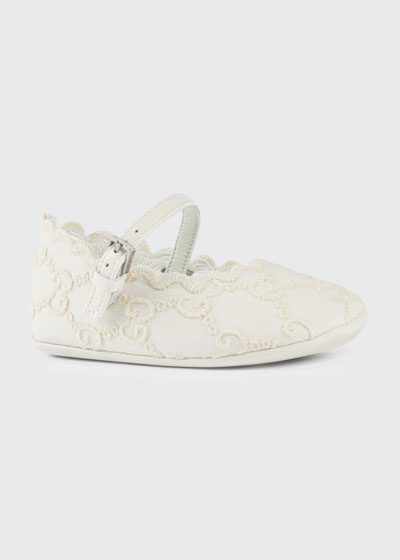 GG Embroidered Lace Ballet Flats  Baby