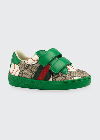 New Ace GG Supreme Baseball-Print Sneakers  Baby/Toddler