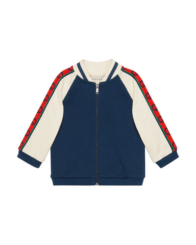 Boy's Fleece Zip-Front Baseball Jacket  Size 12-36 Months
