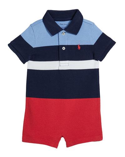 Lifesaver Colorblock Polo Shortall  Size 3-18 Months