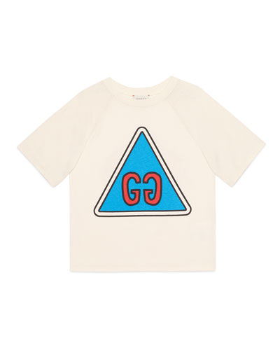 Boy's GG Short-Sleeve Jersey Graphic T-Shirt  Size 4-12