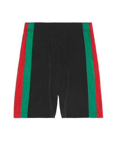 Boy's Crinkle Effect Web Sides Shorts  Size 4-12