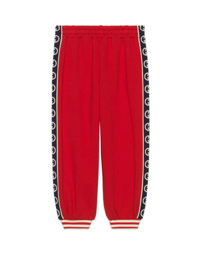 Boy's Jogger Pants with GG Side Trim  Size 4-12