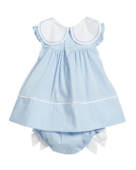 Girl's Petal Collar Float Dress, Size 3-24 Months