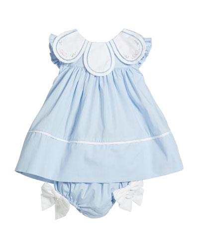 Girl's Petal Collar Float Dress  Size 3-24 Months