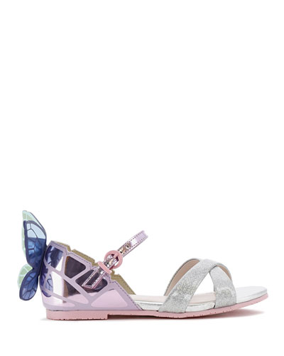 Chiara Mirror Leather Butterfly Wing Sandals  Toddler/Kids