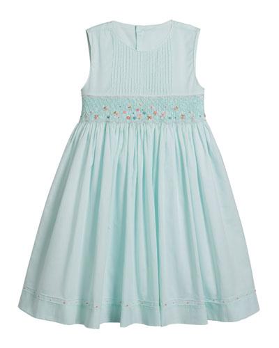 Sleeveless Smocked Dress  Size 4-6X