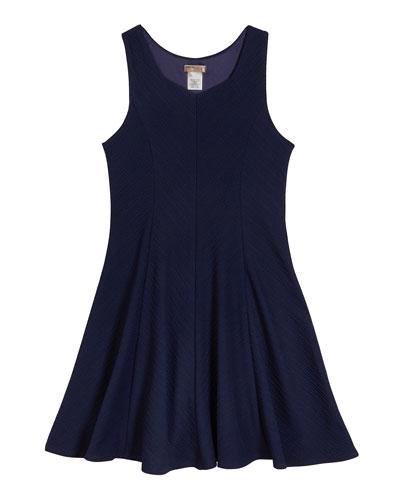 The Nikki Textured Stripe Sleeveless Dress  Size S-XL