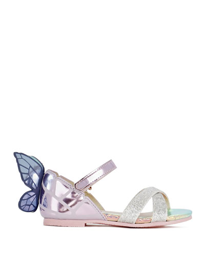 Chiara Mirrored Leather Butterfly Sandals  Baby/Toddler