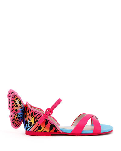 Chiara Leather Embroidered Butterfly Wing Sandals  Toddler/Kids