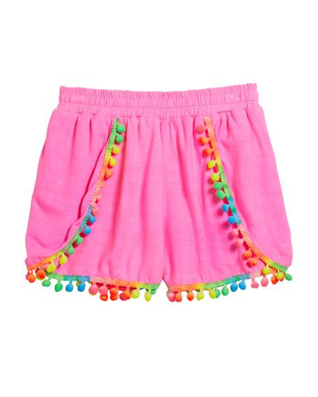 Girl's Pompom Shorts, Size S-XL