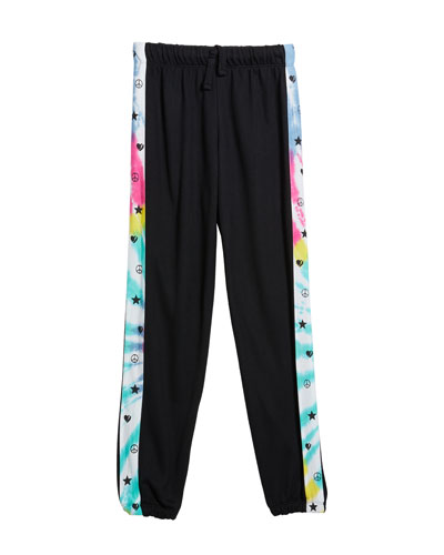 Girl's Relaxed Sweatpants w/ Tie Dye Sides  Size S-XL