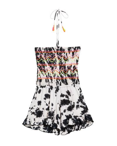 Girl's Tie Dye Halter Romper  Size S-XL