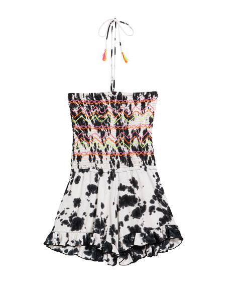 Girl's Tie Dye Halter Romper, Size S-XL