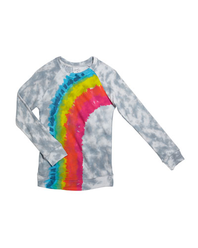 Girl's Tie Dye Rainbow Long-Sleeve Tee  Size S-XL