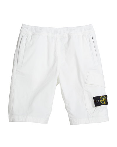 Boy's Pull-On Canvas Cargo Shorts  Size 10-12