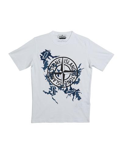 Boy's Compass Logo Short-Sleeve Tee  Size 14