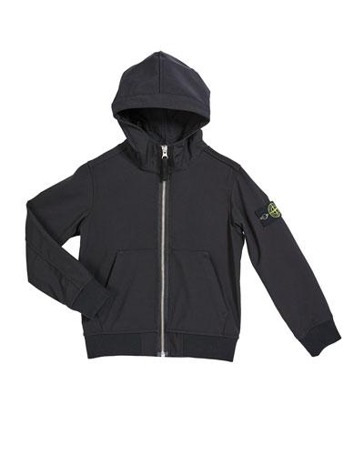 Boy's Tech Hooded Zip-Up Jacket  Size 10-12