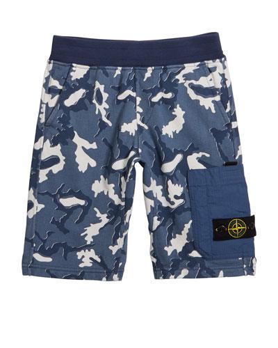 Boy's Camo Fleece Cargo Shorts  Size 2-4