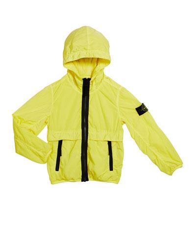 Boy's Lightweight Hooded Jacket w/ Contrast Trim  Size 6-8