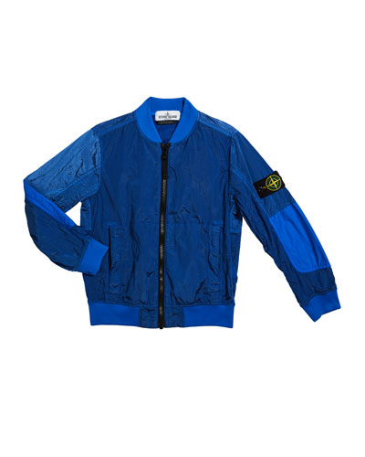 Boy's Ripstop Wind-Resistant Nylon Bomber Jacket  Size 10-12