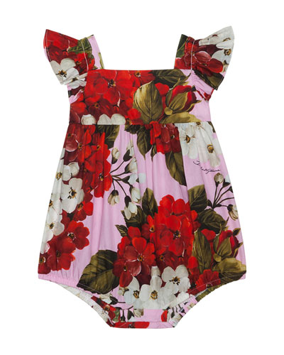 Girl's Blooming Floral Romper  Size 6-24 Months