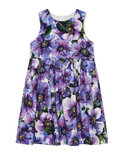 Girl's Blooming Floral Sleeveless Dress  Size 4-6