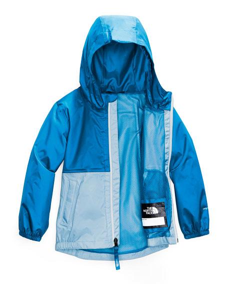 Boy's Zipline Two-Tone Rain Jacket, Size 2-4T