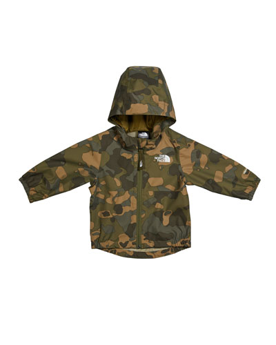 Boy's Zipline Rain Jacket, Size 6-24 Months