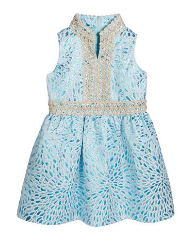 Mini Franci Metallic Jacquard Dress  Size 2-14