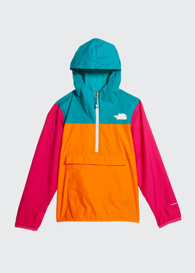 Girl's Colorblock 1/2-Zip Pullover Wind Jacket  Size XXS-XL