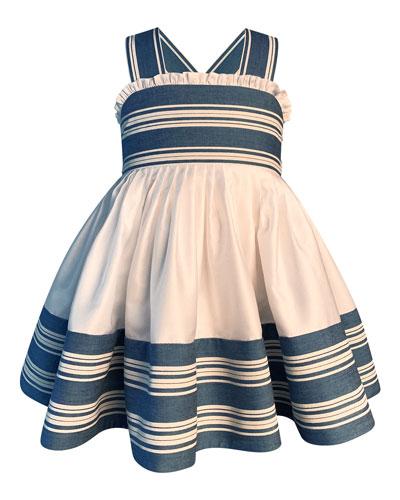 Girl's Striped Sun Dress  Size 2-6