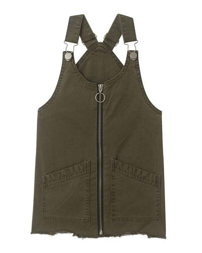 Girl's Lottie Denim Overall Dress  Size S-L