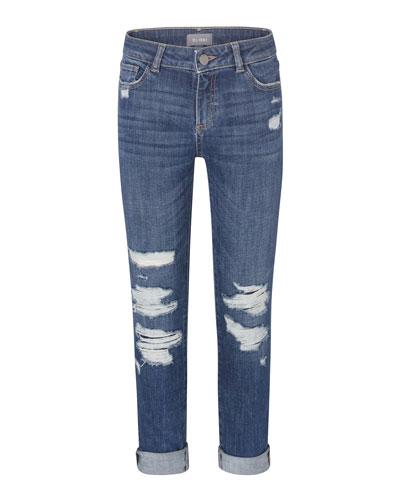Girl's Harper Distressed Boyfriend Denim Jeans  Size 2-7