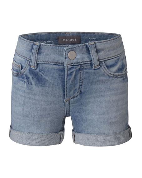 Girl's Piper Cuffed Denim Shorts, Paltrow, Size 2-6