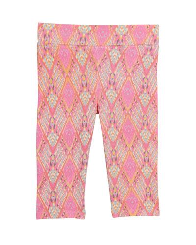 Girl's Eleni Print Leggings  Size 2-6